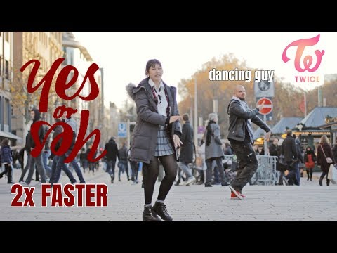 [2X FASTER \u0026 IN PUBLIC] TWICE (트와이스) - YES or YES Dance Cover FAIL