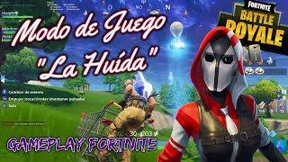"""¡NUEVO MODO DE JUEGO """"LA HUÍDA"""" GANO SIN AYUDA DE NADIE! Gameplay Fortnite: Battle Royale"""