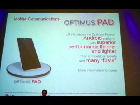 Optimus Pad :LG's Android based Optimus Pad Tablet pictured