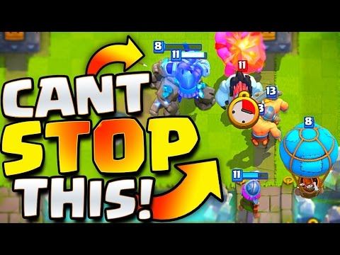 CAN'T STOP GOLEM BALLOON!! Clash Royale