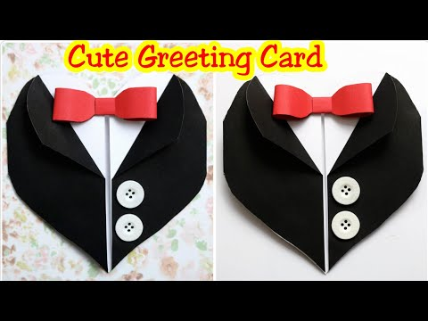 DIY /Suit Jacket/Tuxedo Birthday Card/How to make heart suit for Birthday/Father's day/Valentine day