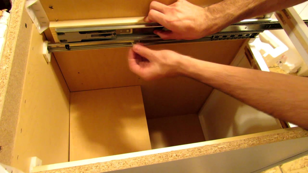 Replacement Drawer Slides >> How To Replace Drawer Slides