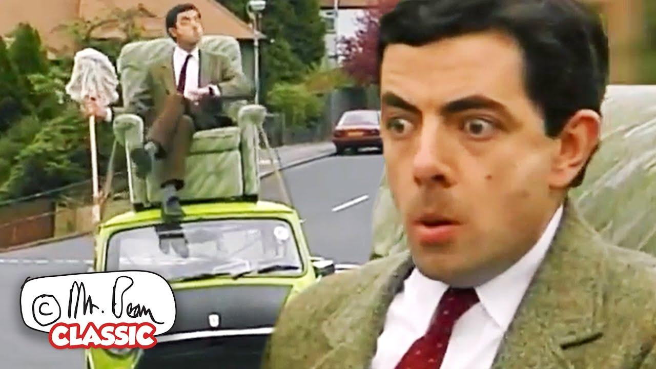Bean's Plans Go Downhill Fast!   Mr Bean Funny Clips   Classic Mr Bean