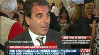 C5N - POLITICA:  CRISTIAN RITONDO FUE ELEGIDO COMO EL LEGISLADOR MÁS LABORIOSO
