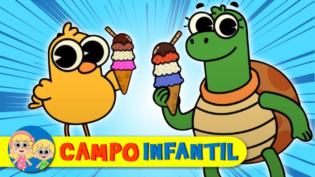 La canción del HELADO - Canta, juega y aprende con animalitos | Campo Infantil