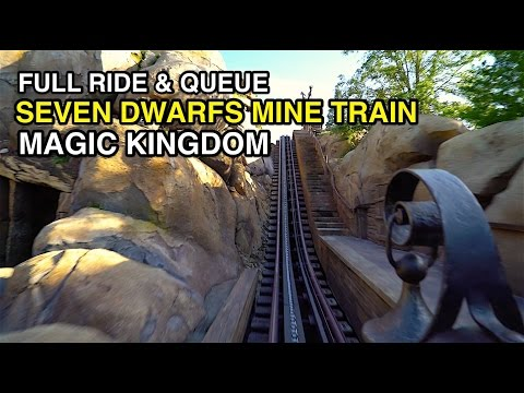 [4K] Seven Dwarfs Mine Train - POV & Full Queue : Magic Kingdom (Orlando, FL)