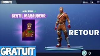 "THE SKIN ""GENTIL MARAUDEUR"" IS OF RETOUR ON FORTNITE BATTLE ROYALE"