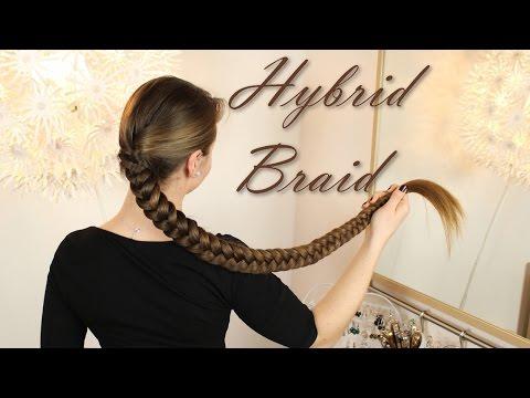 Hybrid Braid - knielange Haare flechten