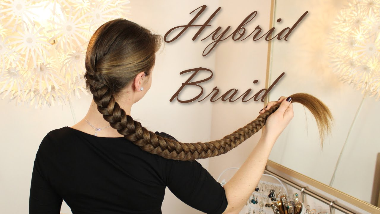 Hybrid Braid   knielange Haare flechten   YouTube