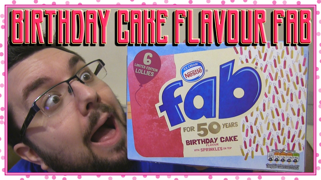 Fab Birthday Cake Flavour Review Ice Lollies