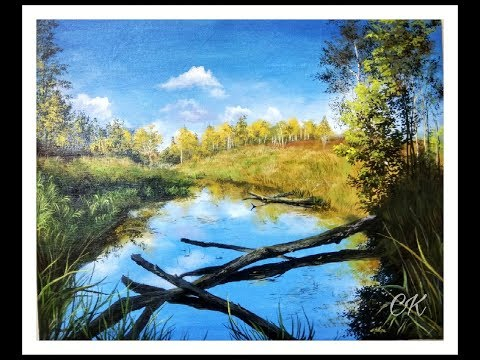 Landscape Painting Tutorial | Realistic Painting | Scenery Painting in Acrylic