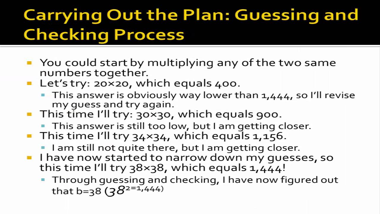 george polya four steps of problem solving