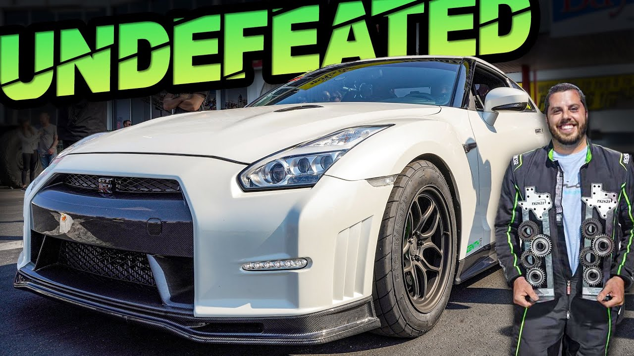 1800HP GTR Beats Vipers and Lambos - UNDEFEATED CHAMP! (60-130MPH in 2.3s)