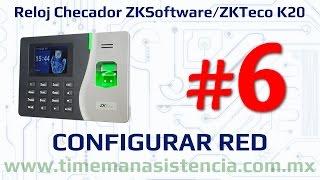 Reloj Checador K20 [Parte 6] - Configurar enlace de Red | ZKSoftware | ZKTeco | Huella Digital