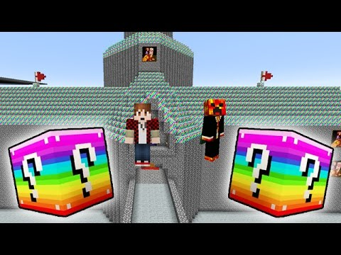 LUCKY RAINBOW BLOCKS PEACH'S CASTLE MOD CHALLENGE - MINECRAFT MODDED MINI-GAME!