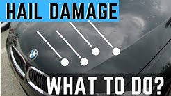 What To Do When You Get a Hail Damage On Your Car. Filing A Claim With Insurance & Hail Repair