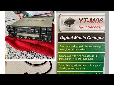 Мерседес W124 магнитола Becker BE1492 с Блютус адаптер Yatour YT-M06