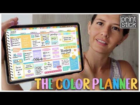NEW Digital Planner + GoodNotes 5 Tutorial | Color Planner   Full Page
