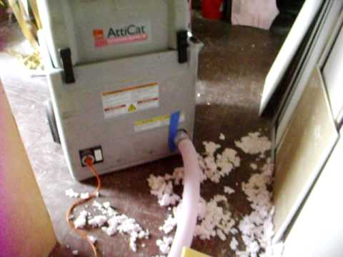 ATTIC CAT INSULATING MACHINE AND MESS & ATTIC CAT INSULATING MACHINE AND MESS - YouTube