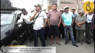 Pepe Julio Gutiérrez se defiende por audios