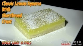 Classic Lemon Squares With Shortbread Crust Recipe