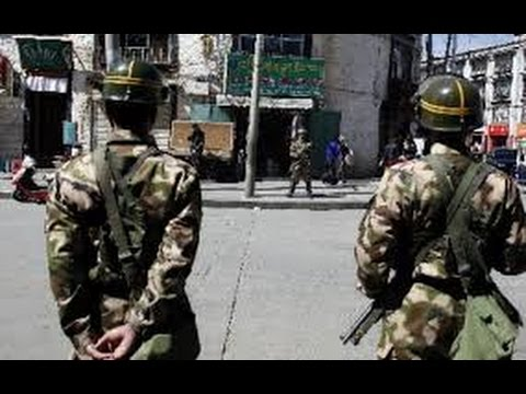 Lhasa capital of Tibet 2015: Heavy Chinese security forces
