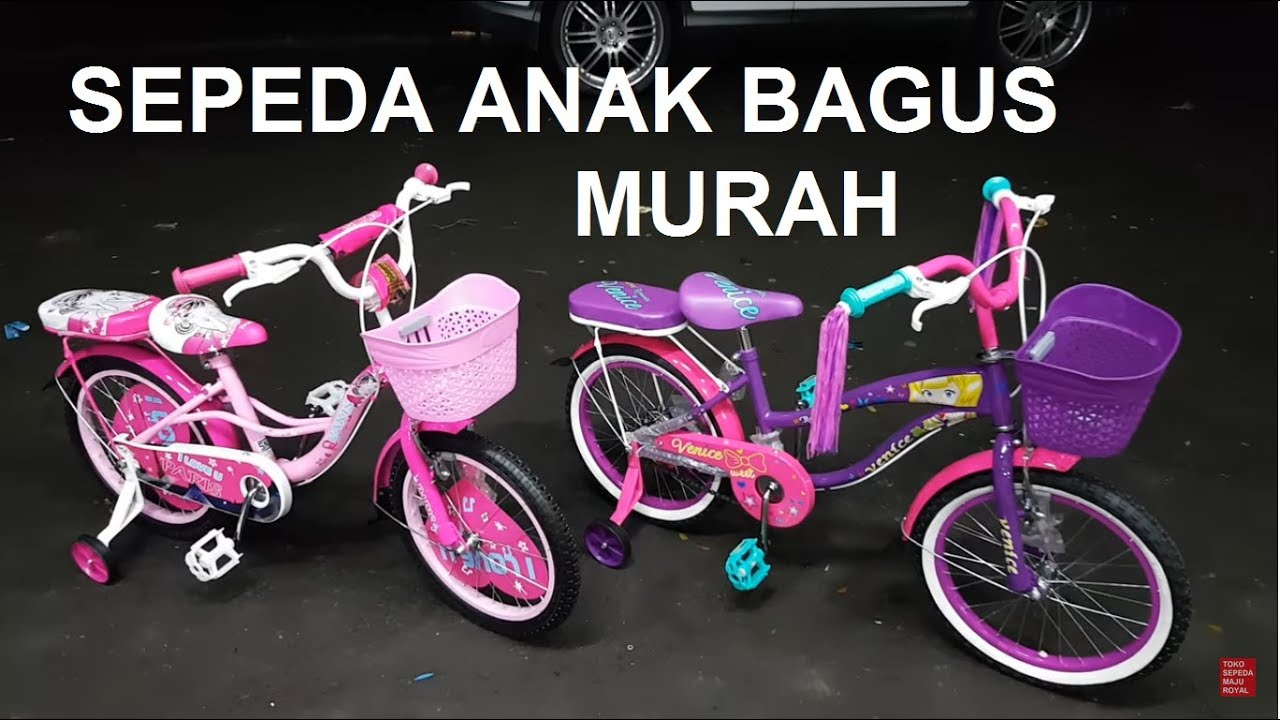 Sepeda Mini Paris dan Venice roda 18 inch untuk anak