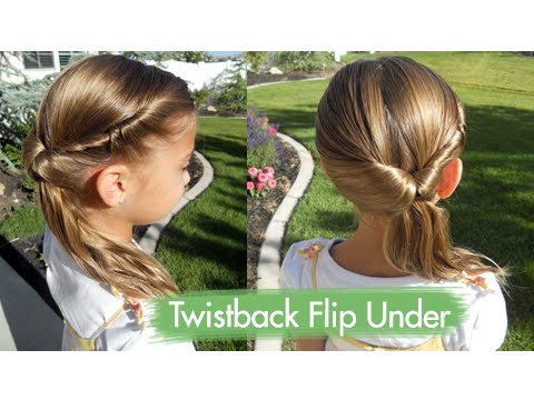 Twistback Flip Under Cute Girls Hairstyles