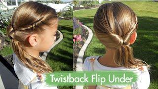Twistback Flip Under | Cute Girls Hairstyles
