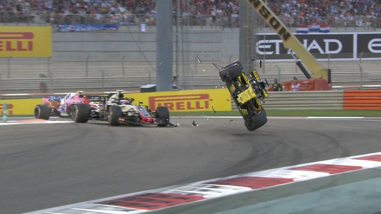 Nico Hulkenberg Crash, All The Angles | 2018 Abu Dhabi Grand Prix