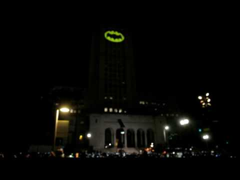 Batman Signal At Los Angeles City Hall - Honoring Adam West