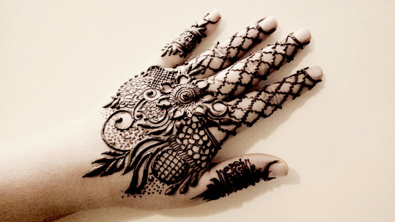 Indo Western Henna Style For Hands 2017 Youtube