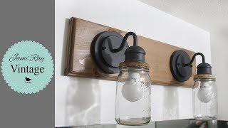 Farmhouse Mason Jar Light Fixture DIY