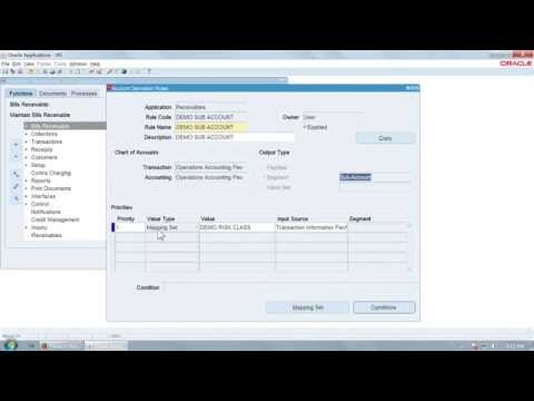 Mapping Set In Oracle Apps R12 Subledger Accounting Sla