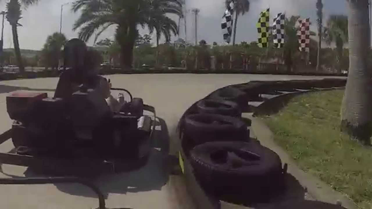 Go Kart Race At Adventure Landing With My Wife Fun Race