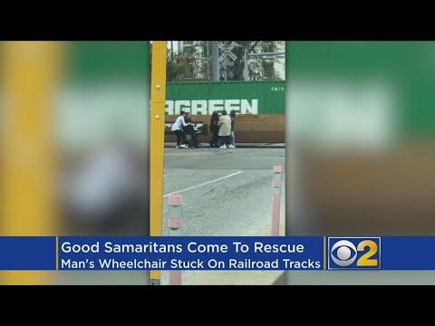 Good Samaritans Rescue Man From Train Tracks
