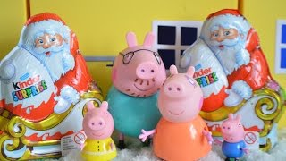 Peppa Pig Episode Christmas Mammy Pig Daddy Pig Gorge Pig Kinder Surprise Animation