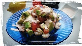 Легкий и вкусный салат. Как приготовить салат с креветками и авокадо