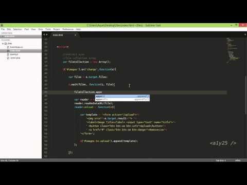 jquery - multi files to multi form ajax uploader, image preview, fileReader