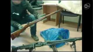Policjanci znaleźli trzy karabiny i pistolet z II Wojny Światowej