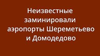 Фото Неизвестные заминировали аэропорты Шереметьево и Домодедово