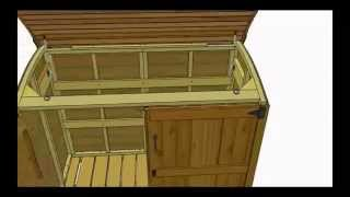 Outdoor Living Today 6x3 Oscar Waste Management Shed