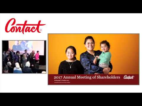Contact Energy 2017 Annual Meeting of Shareholders