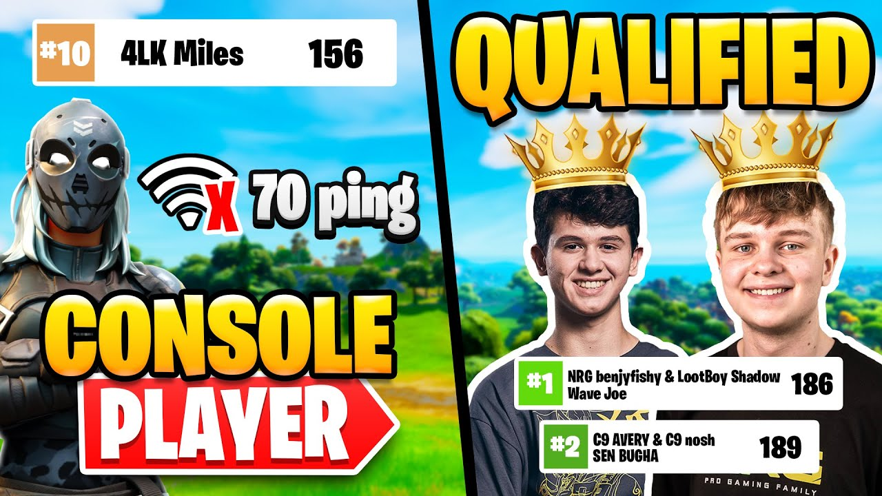Console Pro on 60 FPS and 70 Ping Places | Benjy and Bugha Qualify for Grands