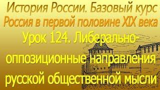 Либерально-оппозиционные направления русской общественной мысли. Чаадаев. Урок 124