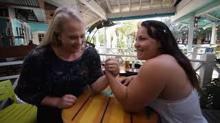 Armwrestling At A Restaurant W. Michael Todd,Gabriela Vasconcelos,Sarah Backman, Robin Chandler