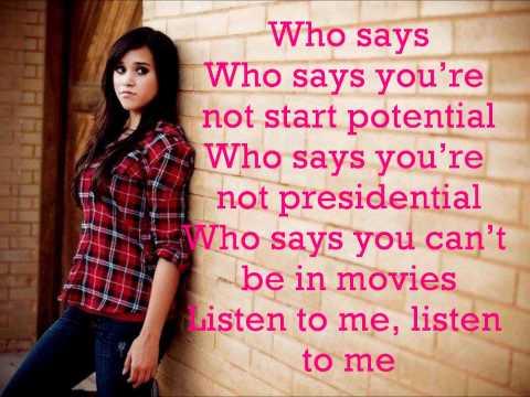 Who Says-Selena Gomez- Megan Nicole and Tiffany Alvord cover (lyrics)