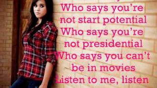 Who Says-Selena Gomez- Megan Nicole and Tiffany Alvord cover (lyrics)
