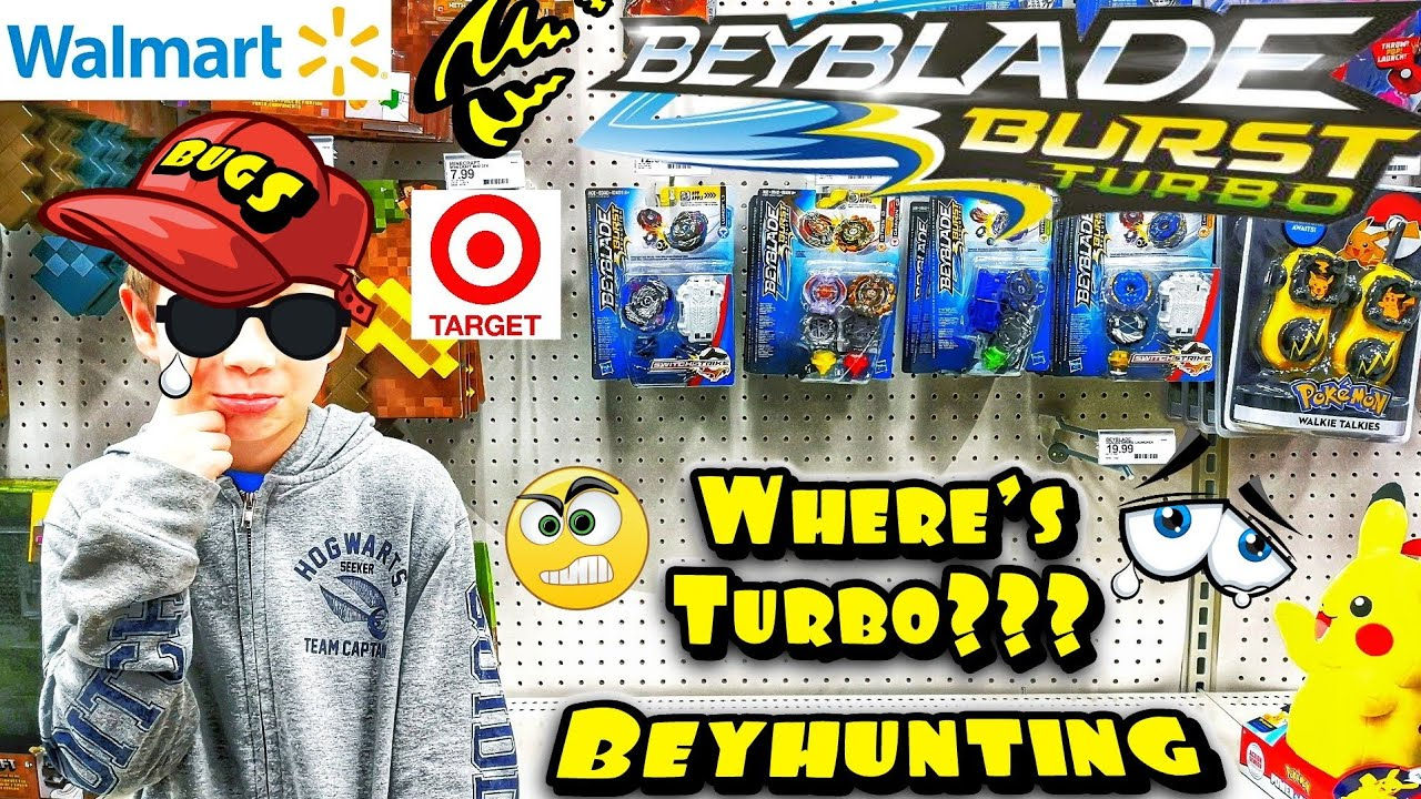 Let's Go! Beyblade Burst Turbo Toy Hunting at Target & Walmart - Where are  they at? BEYHUNTING