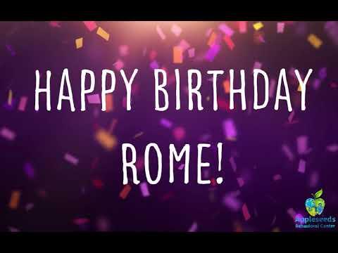 Happy Birthday Rome!